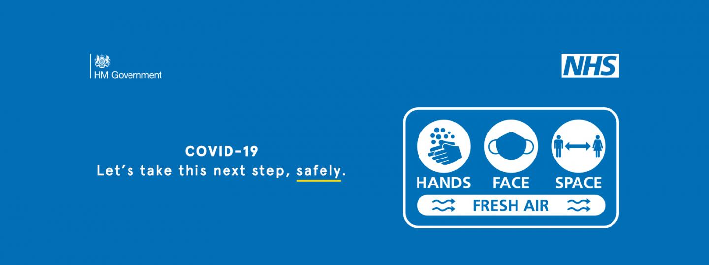 NHS hands face space campaign poster